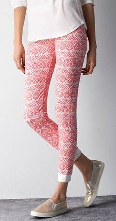 Neon Runner Pink Fair Isle Knit Legging