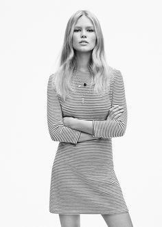 Vestido algodón rayas