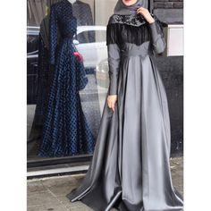 """6,089 Likes, 130 Comments - Seyma Ozturk (@seymatje) on Instagram: """"Kızkardeşimin düğününe doğru  Abiyem sevgili @suna_ca nın elinden   #hijab #hijabi #dailyhijab…"""""""