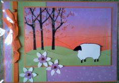 paysage avec mouton