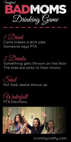 Unofficial Bad Moms Drinking Game Rules