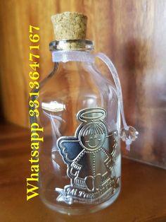 VENTA MINIMA DE 10 PIEZAS POR ARTICULO  $ 16.00    Botellita para agua bendita como recuerdo...