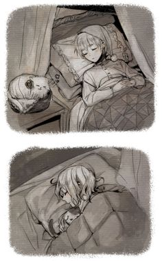Francis and Arthur with each other's cats - aw.... - Art by Fuji