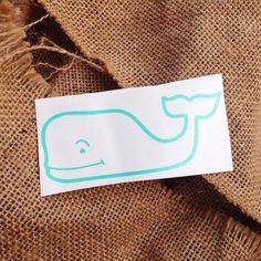 Whale monogram vineyard vines inspiration whale by ThreeInitials