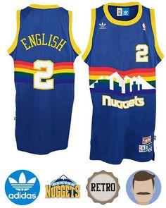6c102662aa5 Rock this Men s Adidas Denver Nuggets  2 Alex English Blue Soul Swingman  Throwback Jersey
