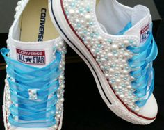 Nupcial boda Converse Converse Bling & perlas Custom