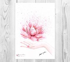 A Beautiful and Delicate Printable Lotus Flower