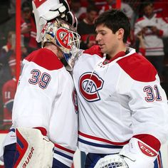The student and the master Montreal Canadiens, Hockey Teams, Hockey Players, Perfect People, National Hockey League, Nhl, Photos, Celebrities, Sports