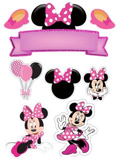 clique na imagem para seguir meu perfil no instagran Minni Mouse Cake, Bolo Da Minnie Mouse, Minnie Mouse Stickers, Minnie Mouse Cupcake Toppers, Minnie Mouse Birthday Decorations, Minnie Mouse Balloons, Minnie Baby, Minnie Mouse 1st Birthday, Minnie Mouse Theme