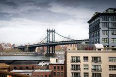 New York - zicht op Manhattan van Mark de Boer