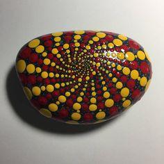 Hand Painted Mandala Stone, Mandala Meditation Stone, Dot Art Stone, Healing Stone, #470 by MafaStones on Etsy