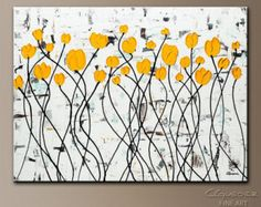 Items similar to Wildflowers - An original acrylic painting on canvas on Etsy