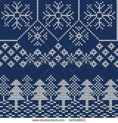 Vector Illustration of Ugly sweater seamless Pattern for Design, Website, Background, Banner. Merry christmas Knitted Retro cloth with Snowflake and Christmas tree Element Template