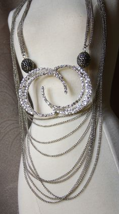To The Moon and Back Necklace - can be worn doubled as pictured or long - direct link http://shelbilavender.com/necklaces-2/008-2/#