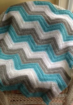 chevron zig zag ripple baby blanket afghan by JDCrochetCreations, $78.00 https://www.etsy.com/listing/190474619/chevron-zig-zag-ripple-baby-blanket?ref=shop_home_active_8