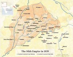 Maharaja Ranjit Singh empire, #sikhempire, #jatrulers, #jatkingdom. Maharaja Ranjit Singh, Dev Ji, Indus Valley Civilization, Real Numbers, India Map, Rare Words, He Is Able, One Kings