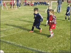 "Share this ""A boy takes a break during a soccer play to hug his brother"" animated gif image with everyone. Gif4Share is best source of Funny GIFs, Cats GIFs, Dog GIFs to Share on social networks and chat."