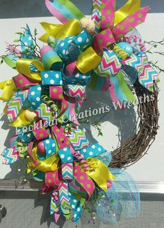 Easter Spring Grapevine Wreath Easter by LocklearCreations13