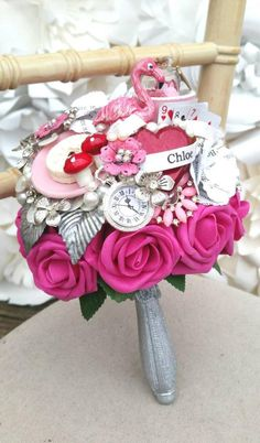 Diy Bouquet, Bride Bouquets, Book Page Roses, Wonderland, Skull Wedding, Alternative Bouquet, Corsage Wedding, Resin Flowers, Handmade Books