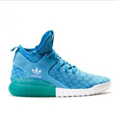 ADIDAS Orinals Tubular X Primeknit - New - Cyan Blue  Sizes: 10.5 - 12  #Kickz #CyanBlue #Adidas #sneakersforsale #sneakers #amazing #deal
