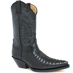 Grinders Carolina Herren Western Cowboy Stiefel, Schwarz, Größe 44 - http://on-line-kaufen.de/grinders/44-eu-grinders-carolina-herren-western-cowboy