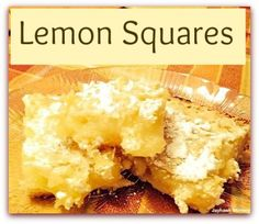 Lemon Squares - Adventures of a Jayhawk Mommy