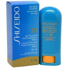 Shiseido Sun Protection Stick Foundation for Unisex SPF 30, Biege, 1 Ounce -- Read more at the image link.