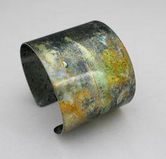 anodised aluminium wide contemporary cuff