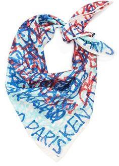 KENZO 'Scribble Letter' Silk Scarf