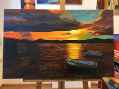 Hello! This is my new painting. Resting boats on Lake Balaton, size:50x80 centimetres, oil-cancas, prise: 1335$. www.lisaelinor.hu