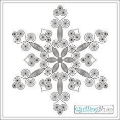 QuillingShop.ru: copos de nieve a partir de diagrama de circuito quilling papel de Quilling