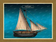 ΤΑΡΤΑΝΑ Όλες οι εικονογραφήσεις είναι από το βιβλίο της ΑΡΤΕΟΝ ΕΚΔΟΤΙΚΗΣ: Πειρατικά και κουρσάρικα σκαριά των θαλασσών μας. 18ος-19ος αιώνας. Ένα ταξίδι στον κόσμο των πειρατικών και κουρσάρικων σκαριών και στη ζωή των προγόνων μας. www.e-arteon.gr Sailing Ships, Boat, Dinghy, Boats, Sailboat, Tall Ships, Ship
