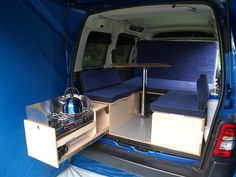A - boot jump with screens & water bottle, Amdro Alternative Camper Conversions