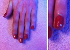 Pink manicure with miniature white heart on ring finger nail.