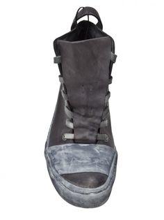 Boris Bidjan Saberi black leather sneakers