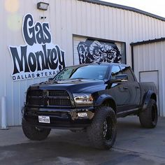 Dodge ram quad cab and gas monkey garage Jacked Up Trucks, Ram Trucks, Diesel Trucks, Cool Trucks, Chevy Trucks, Pickup Trucks, Lifted Ram, Dodge Ram Lifted, Chevy 4x4