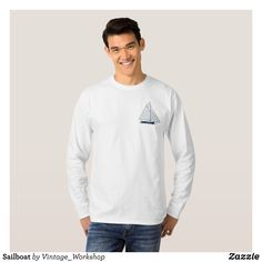 Sailboat T-Shirt - Heavyweight Pre-Shrunk Shirts By Talented Fashion & Graphic Designers - #sweatshirts #shirts #mensfashion #apparel #shopping #bargain #sale #outfit #stylish #cool #graphicdesign #trendy #fashion #design #fashiondesign #designer #fashiondesigner #style
