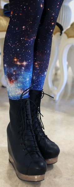 Stunning starry tights.
