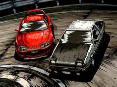 Honda S2000, Honda Civic, Initial D Car, Jdm Wallpaper, Street Racing Cars, Car Backgrounds, Funny Car Memes, Mitsubishi Lancer Evolution, Drifting Cars