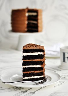 6-Layer Chocolate Malted & Toasted Marshmallow Cake
