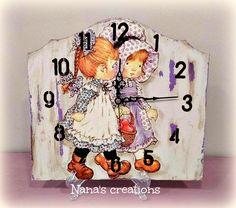 Nana's Χειροποίητες Δημιουργίες Clocks, Watches, Clock