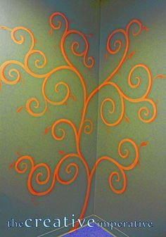 Simple tutorial on painting designs on walls --Would love to paint something like this in Addi's room.
