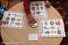 Free printable Christmas Bingo game with 10 different playing cards || Gift of Curiosity