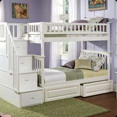Double Bunk Beds With Drawers