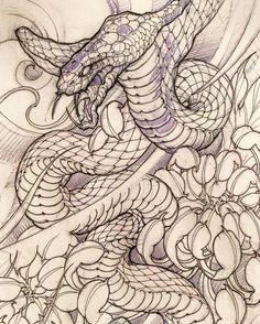 Snake sketch by: @davidhoangtattoo