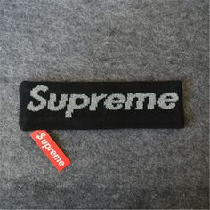 This Supreme Fleece Headband is available in 5 colors (Blue, Red, Black, Yellow and Camo). Supreme Accessories, Headbands, Street Wear, Color, Black, Head Bands, Black People, Colour, Colors