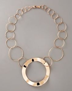 Rose Gold Link Necklace by Ippolita at Neiman Marcus. Silver Bracelets, Silver Jewelry, Silver Rings, Cocktail Rings, Rose Gold, Jewels, Sterling Silver, Pendant, Bergdorf Goodman