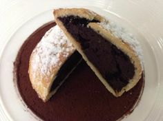 chocolate neapolitan sfogliatella frolla made by I Favò, Sergio&Clelia, a couple of chef in the life and kitchen