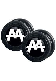 "Set di falsi plug ""Black Logo"" degli #AskingAlexandria."