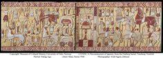 reproduction of tapestry from Oseberg burial, Tonsberg, Vestfold